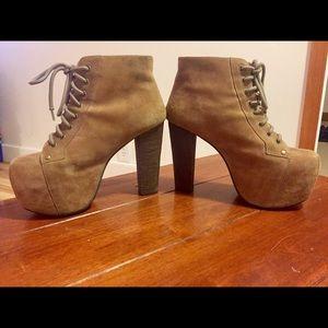 Jeffrey Campbell Lita Heeled Boots Size 7.5